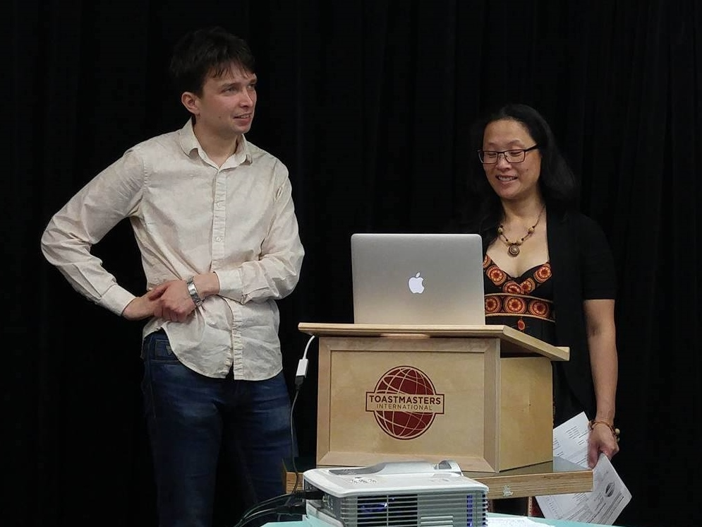 """Sometimes there are technological glitches ... Bonnie Mak: """"What is going on with your MacBook Air, Artem?"""""""
