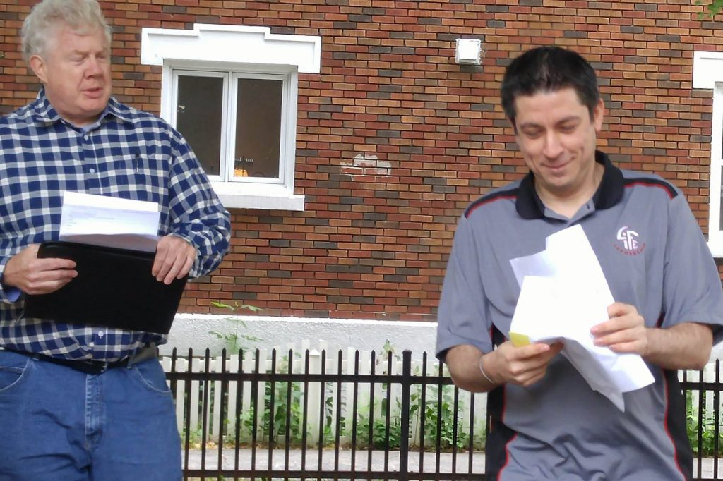 Rick Chandler, Toastmaster, and Lee Weishar, speaker