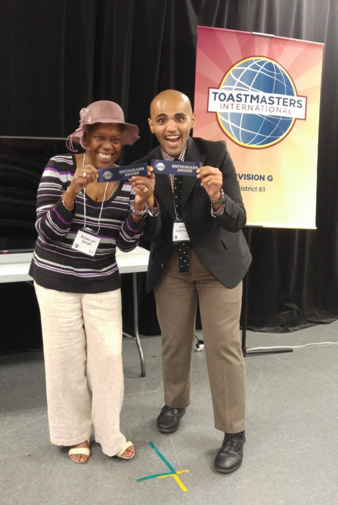 """RoseLyn and Aziz, """"Most Enthusiastic"""", you can't get more enthusiastic than this!"""